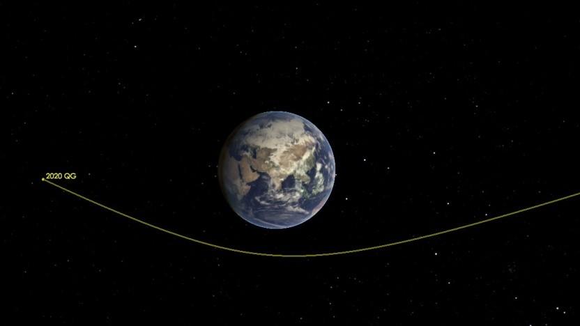 Symbolbild: Vorbeiflug des Asteroiden 2020 QG (im August 2020)