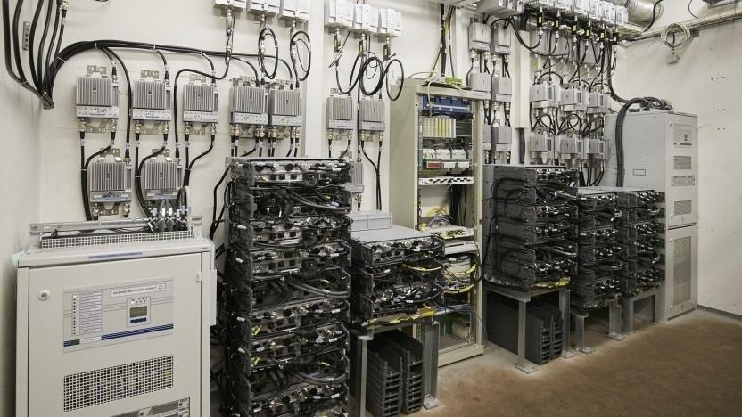 Technik der Telefonica in der Hamburger Hochbahn
