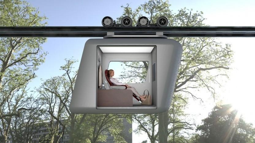 Ottobahn: allein in einer Gondel in der Luft statt im Stau auf der Straße