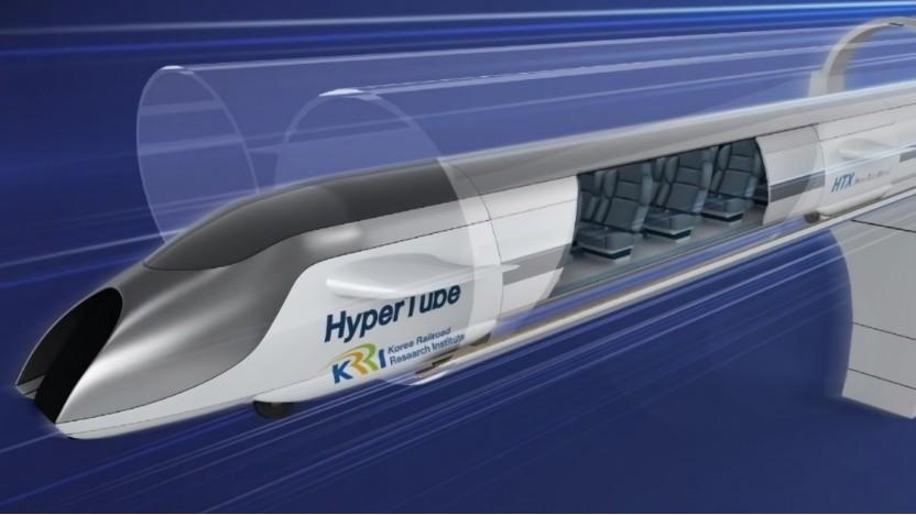 Künstlerische Darstellung des Hypertube: Eine Teststrecke in Originalgröße soll 2022 betriebsbereit sein.