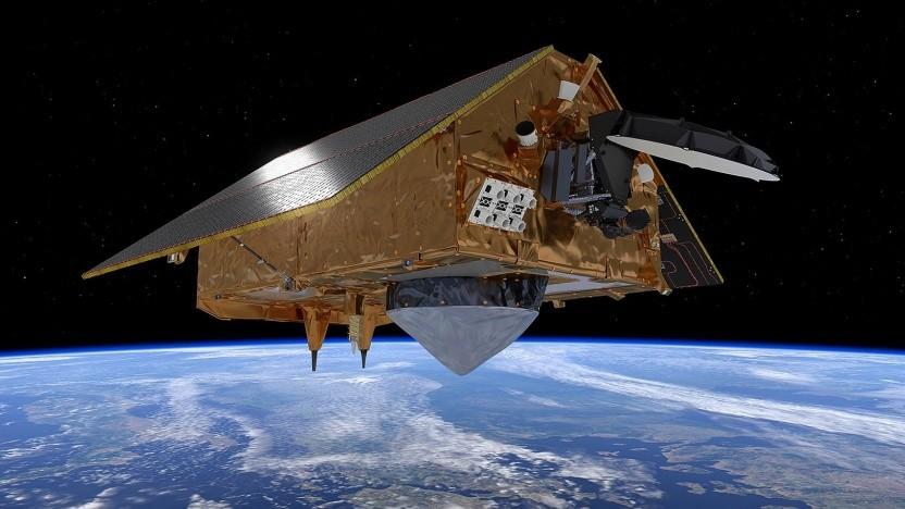Künstlerische Darstellung von Sentinel-6 im All: bis mindestens 2025 im Einsatz