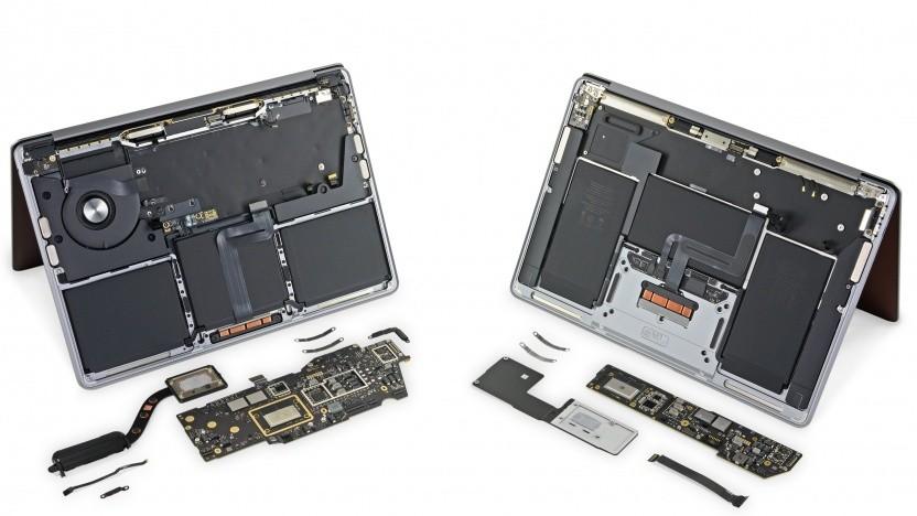 Links das Macbook Pro, rechts das Macbook Air