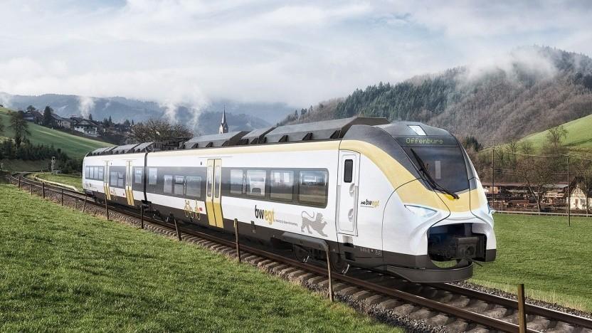 """Künstlerische Darstellung des Mireo Plus H: """"Marktpotenzial von 10.000 bis 15.000 Zügen in Europa"""""""