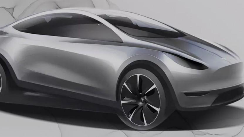 Designidee für ein kompaktes Tesla-Fahrzeug