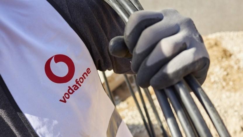 Glasfaserprojekte von Vodafone werden abgeschlossen.