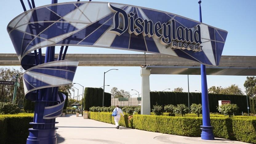 Das verwaiste Disneyland in Anaheim, Kalifornien