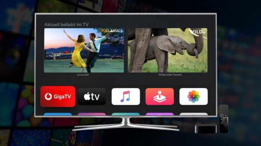 Giga TV läuft auf dem Apple TV.