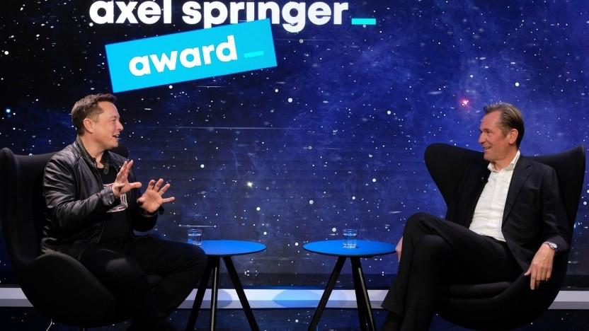 Elon Musk im Interview mit Mathias Döpfner