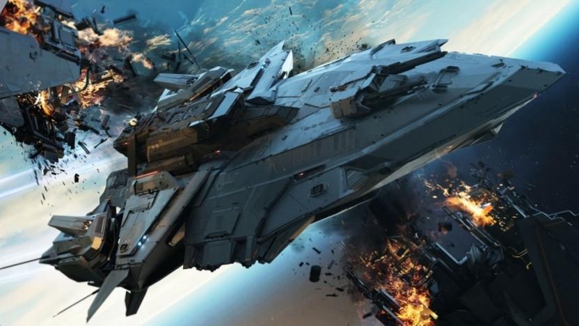 Die RSI Perseus ist ein Schiff für ein nicht existierendes Szenario in Star Citizen.