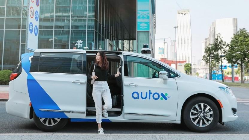 Fahrerloses Taxi in Shenzhen: Die Stadtverwaltung fördert autonomes Fahren.