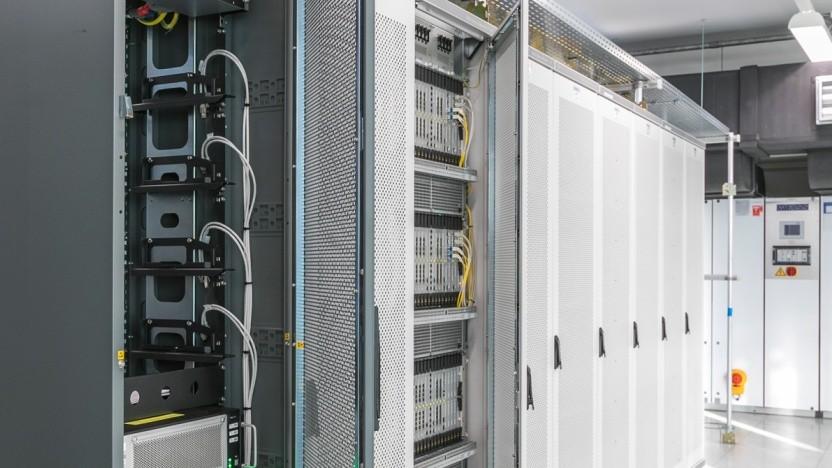 Backbone im Rechenzentrum Berlin der Telefónica Deutschland