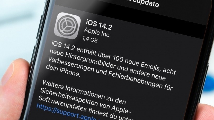 Installationshinweise von iOS 14.2