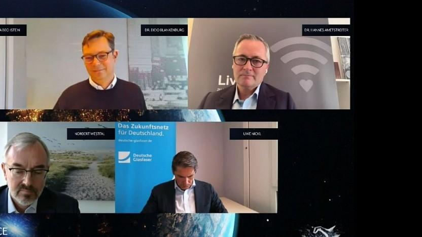 Die Redner bei dem virtuellen Panel