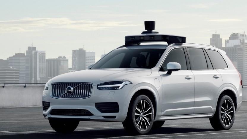Autonom fahrender Volvo XC90 von Uber