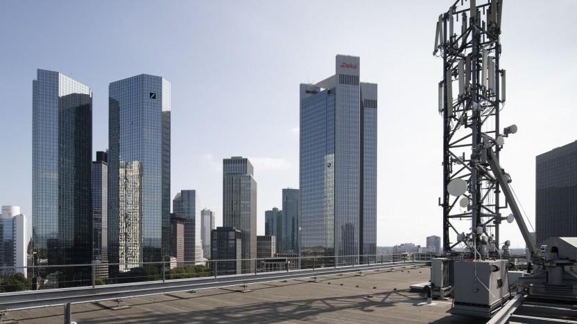 5G der Telefónica Deutschland in Frankfurt