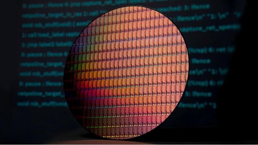 Auf 300-mm-Wafern entstehen aktuelle CPUs und GPUs.