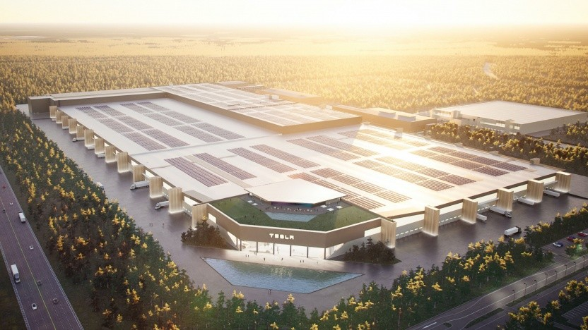 So soll die Gigafactory Berlin einmal aussehen.