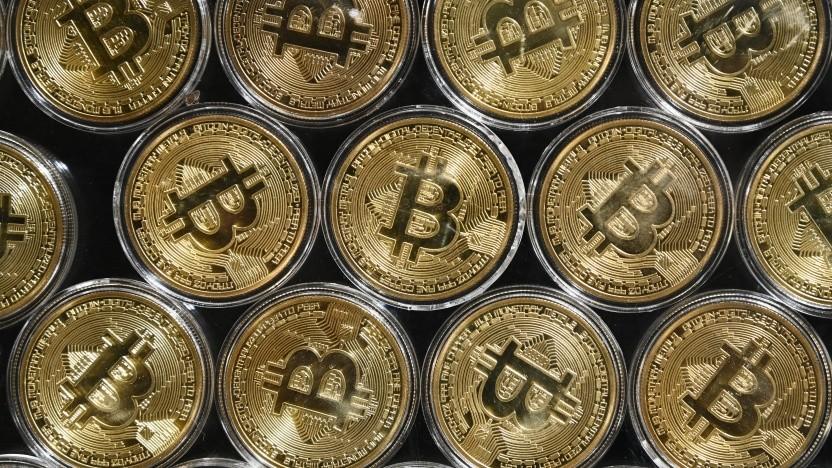 So könnten Bitcoins aussehen, wenn es sie als Münzen gäbe.