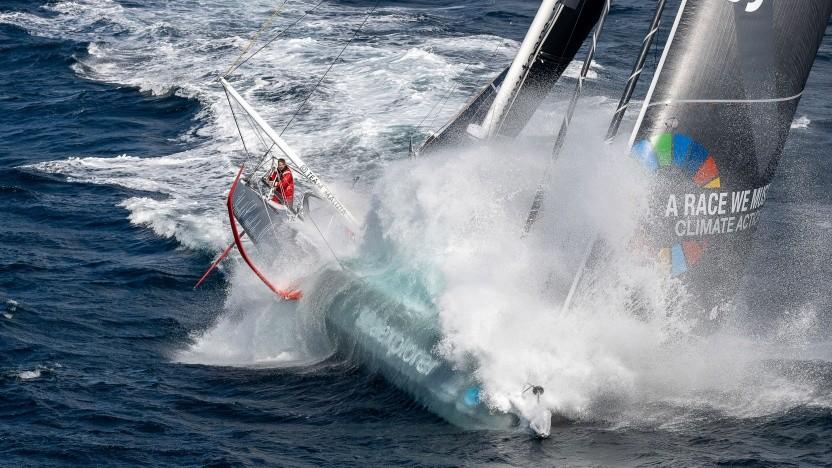 Boris Herrmann auf der Seaexplorer: keine Zeit, das Boot zu steuern