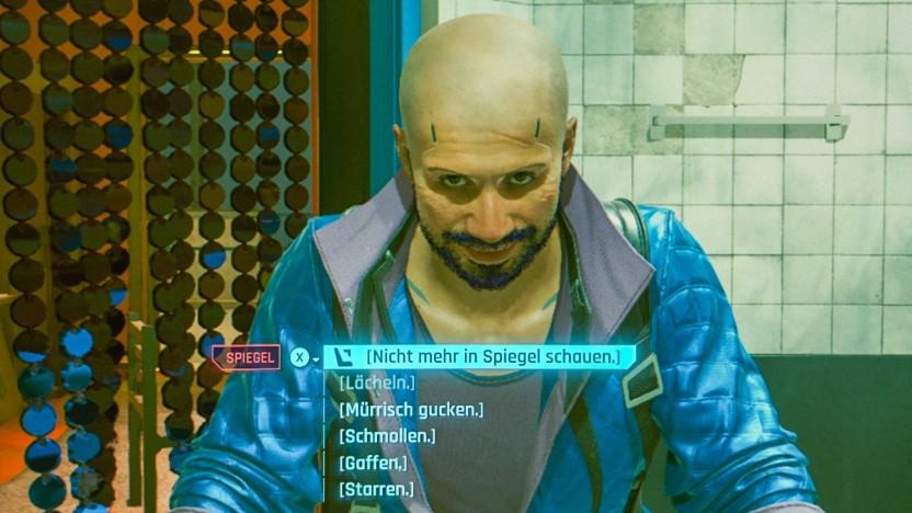 Szene aus der PC-Version von Cyberpunk 2077