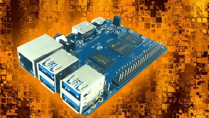 Der BPI-M5 ähnelt dem Raspberry Pi 4 stark.