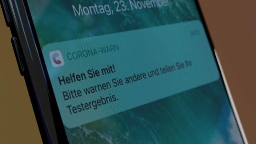 Corona-Warn-App auf dem iPhone