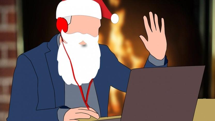 Weihnachten kann mit Hilfe von Videokonferenzen auch in größerem Rahmen stattfinden.
