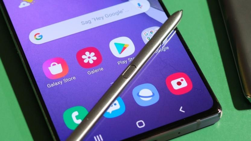 Der Eingabestift bei einem Galaxy Note 20