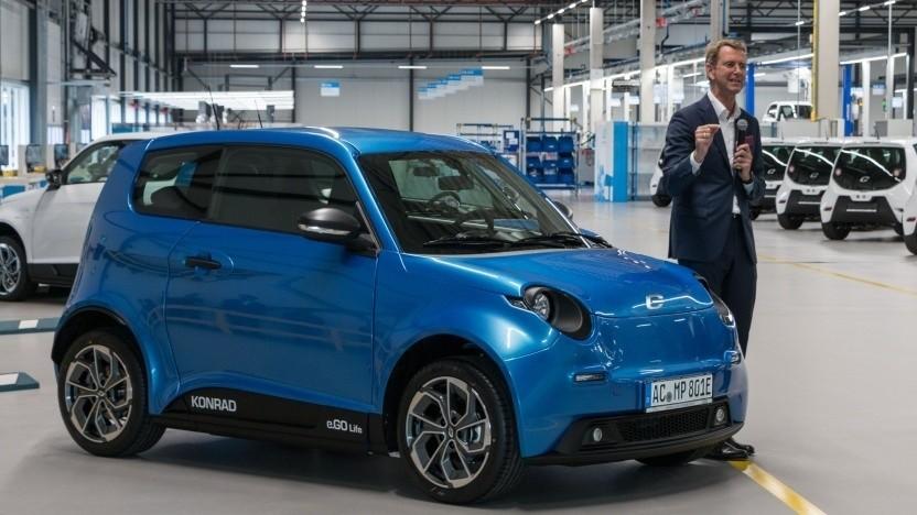 Günther Schuh stellt das Elektroauto E.Go Life vor