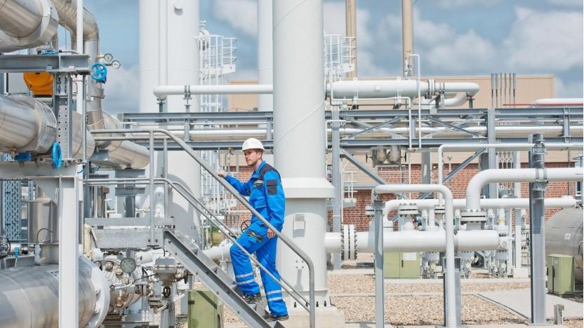 Oberirdische Anlagen eines Erdgasspeichers (Symbolbild): Auf die Reinheit des Wasserstoffs kommt es an.