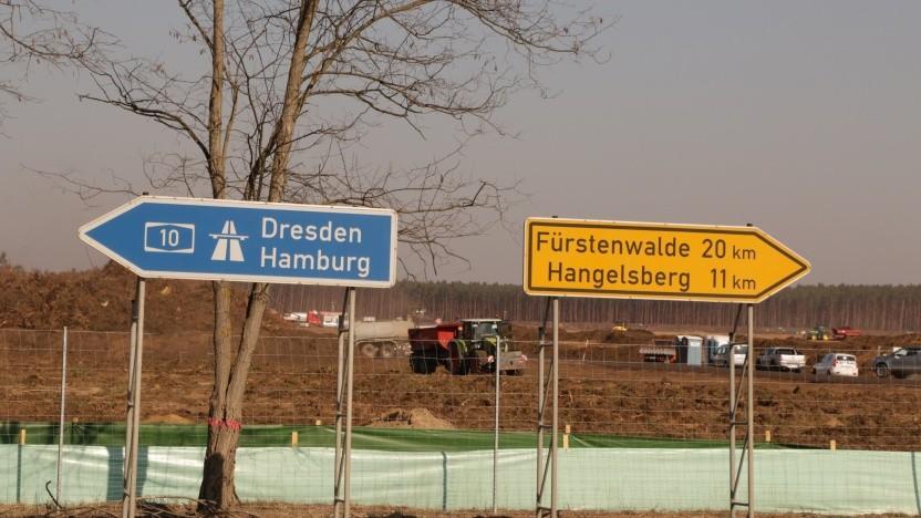 Die Gigafabrik soll eine zusätzliche Autobahnausfahrt erhalten.