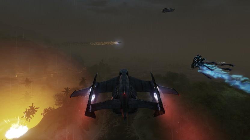 Wir sind per VTOL in der Ascension-Mission unterwegs