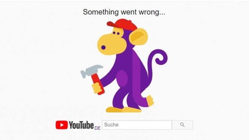 Authentifizierte Google-Nutzer sahen bei dem Ausfall nur Fehlermeldungen wie diese von Youtube.