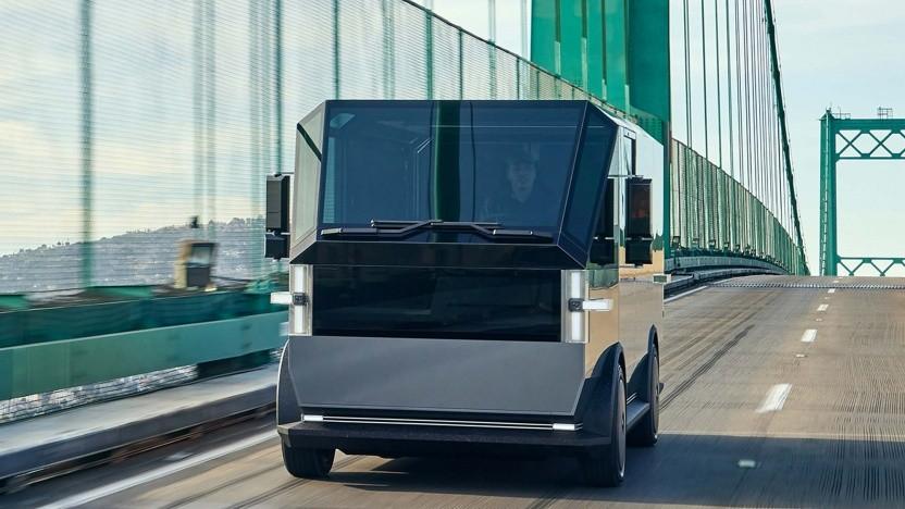 Transpoorter Canoo MPDV: Ein Medium Truck kommt später.