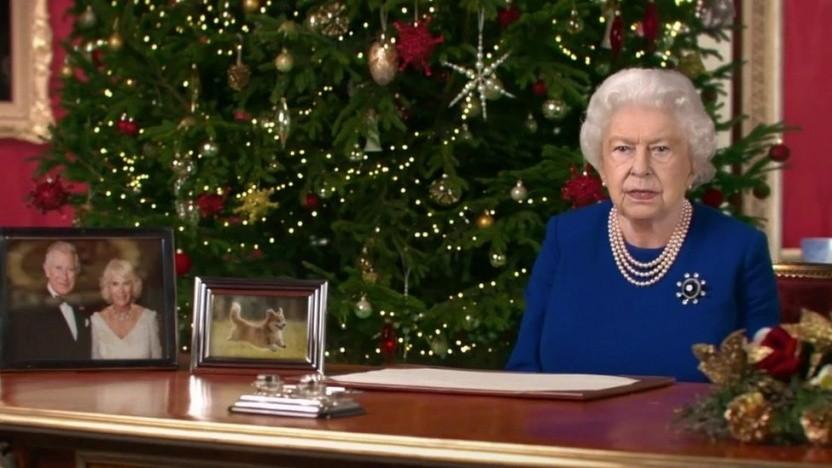 Die falsche Queen bei ihrer Weihnachtsansprache