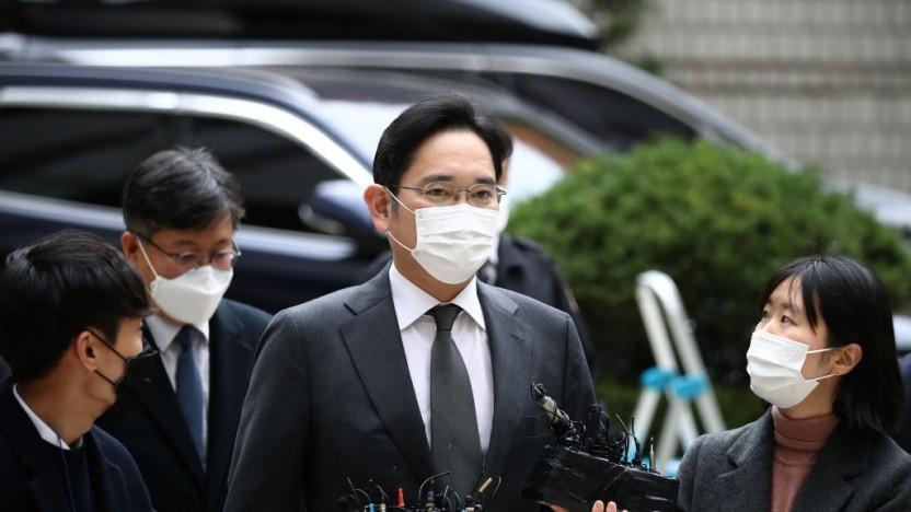 Der Samsung-Erbe Lee Jae Yong auf dem Weg zu einem der Verhandlungstermine
