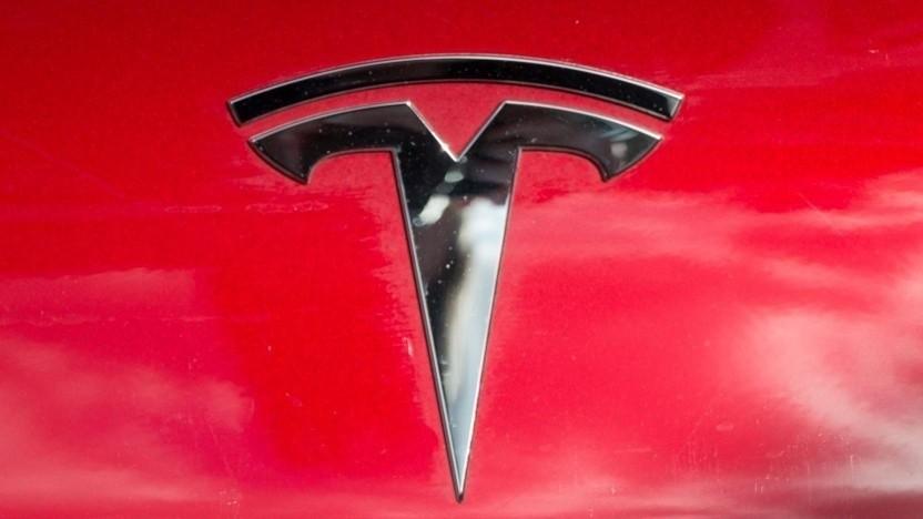 Tesla-Logo: Der Börsenwert ist um mehr als 700 Prozent gestiegen.
