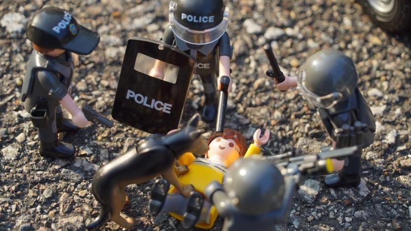 Ein Swat-Einsatz der Polizei. (nachgestellt)