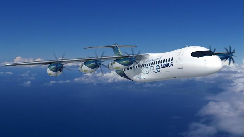 Wasserstoffflugzeug Airbus ZEROe: Es muss grüner Wasserstoff sein.