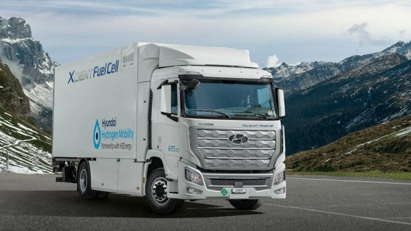Brennstoffzellen-Lkw Hyundai Xcient Fuel Cell