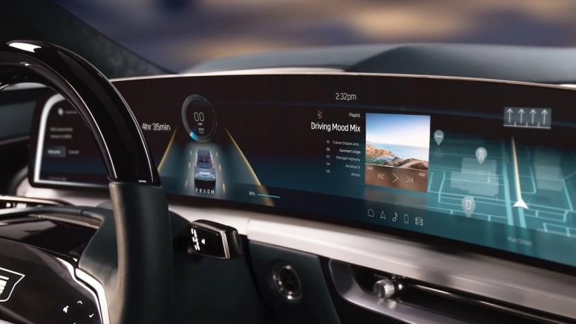 Bildschirm im Cadillac Lyriq