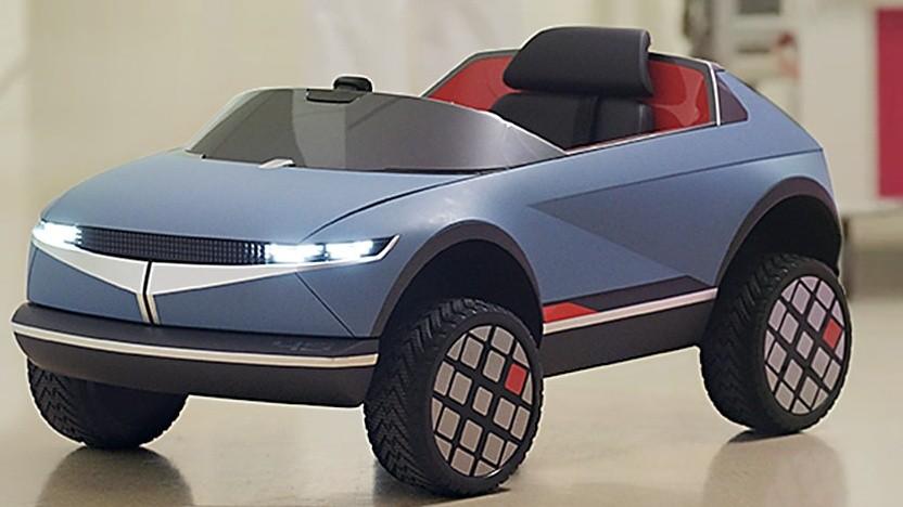 Ein elektrisches Spielzeugauto von Hyundai