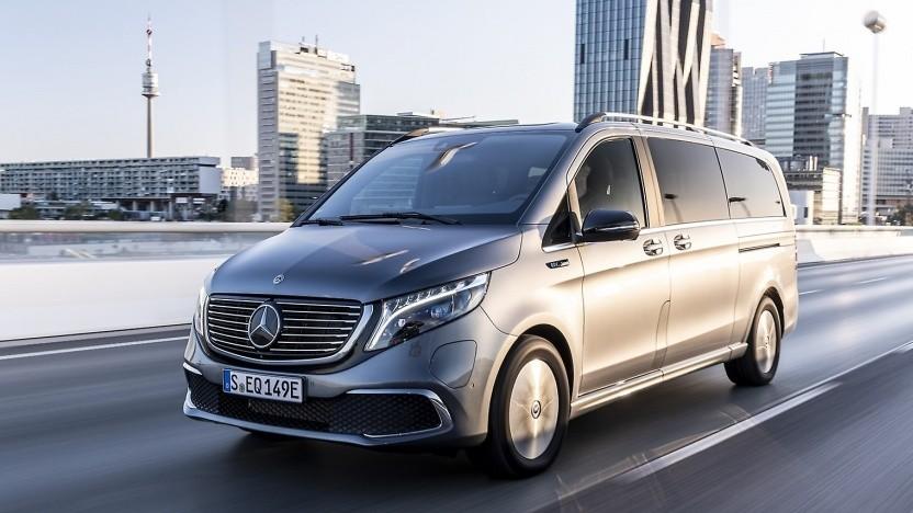 Elektro-Van Mercedes EQC: falsche Federbeine