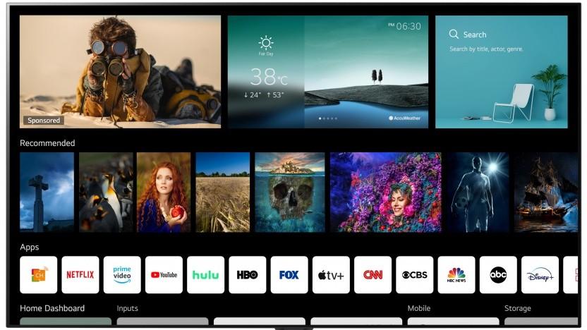 WebOS 6.0 auf einem LG-Fernseher