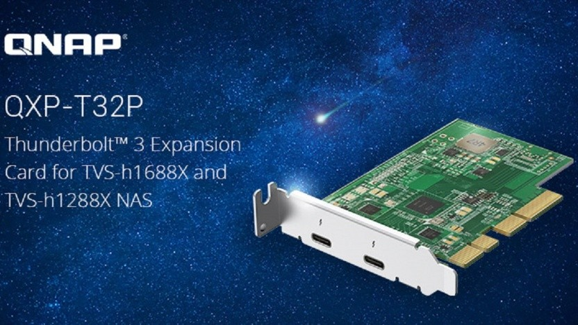 Die QXP-T32P bietet Thunderbolt-Buchsen für mehr Funtkionalität.