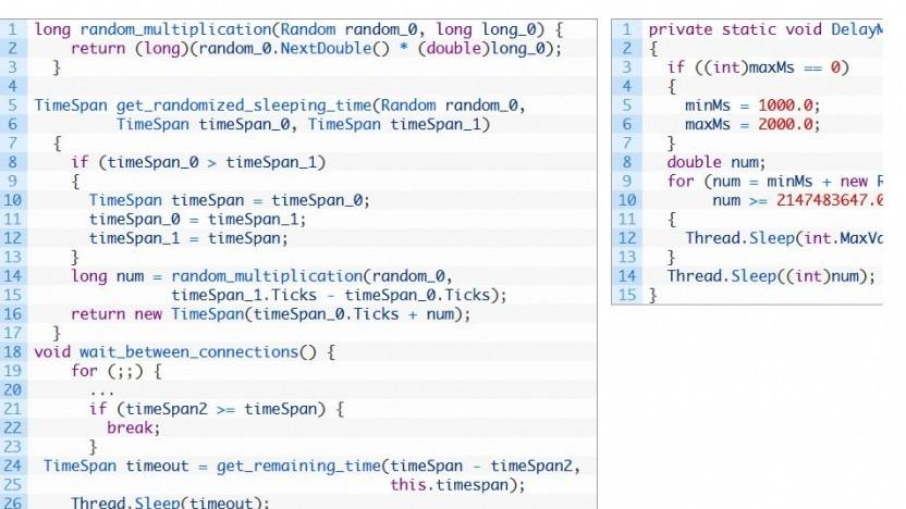 Laut Kaspersky gibt es ähnlichen Code bei Kazuar (l.) und Sunburst.