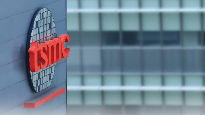 TSMC-Logo am Firmengebäude