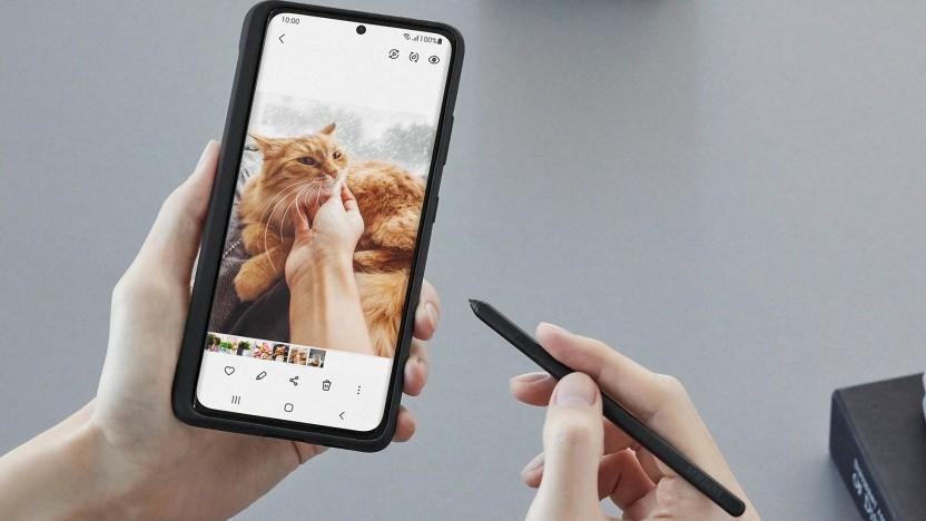 Das Galaxy S21 Ultra unterstützt den S Pen.