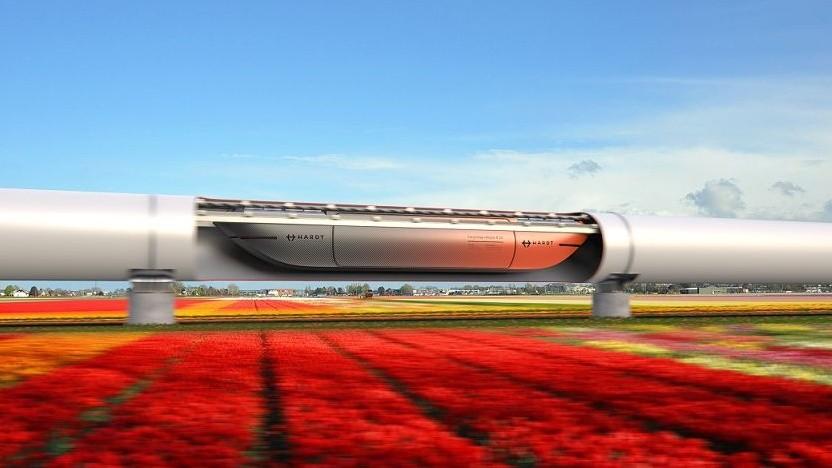 Künstlerische Darstellung des Cargoloop: Der Warentransport kommt mit weniger Infrastruktur aus.