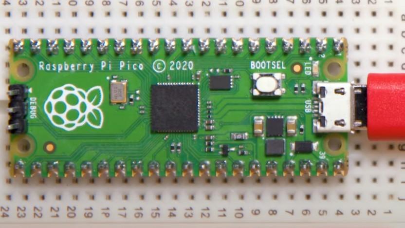 Der Pico sieht dem Arduino Nano ähnlich.